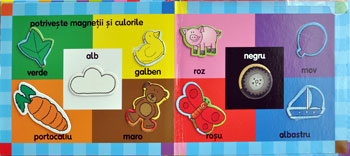 Ma joc si invat CULORI cu magneti, Editura RAO