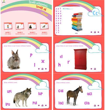 Invat alfabetul, Editura Gama, CD cu jocuri