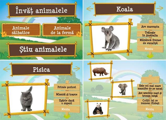 Invat animalele, Editura Gama, CD cu jocuri