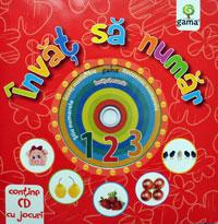 Invat sa numar, Editura Gama, CD cu jocuri