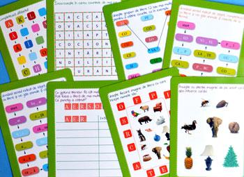 Jocuri cu litere. Scrie si sterge. Editura Gama