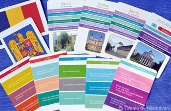 Carti de joc educative: Orase din Romania, Editura Gama