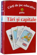 Tari si capitale, carti de joc educative, editura Gama