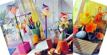 Idei creative 68: Figurine jucause din linguri de lemn