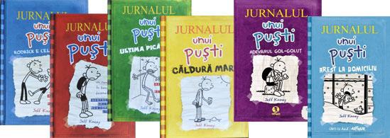 Jurnalul unui pusti, Editura Art, volumul 1, 2, 3, 4