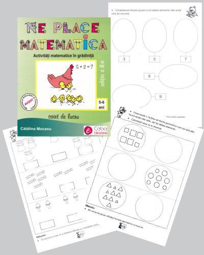 Ne place matematica, Activitati matematice in gradinita, Caiet de lucru, Editura Caba Educational