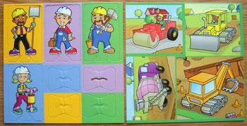 Micul constructor, Editura Teora, Carte cu puzzle gigant