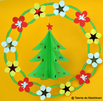 Coronita cu bradut, ornament pentru iarna