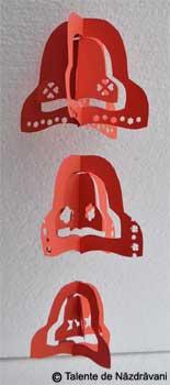Clopotei. ghirlande din hartie pentru Craciun