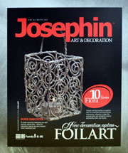 Josephin Foilart - Suport de lumanare din folie de aluminiu (staniol) rasucit