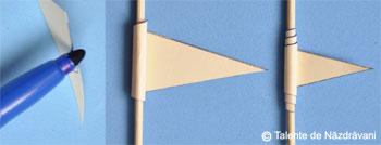 Margele din triunghiuri rasucite