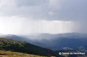 Ploaie pe valea Ialomitei