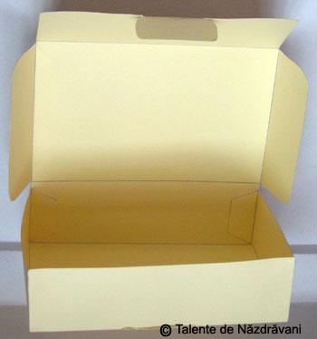 Cutie de cadou confectionata din carton