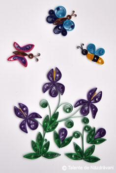Flori de iris, quilling