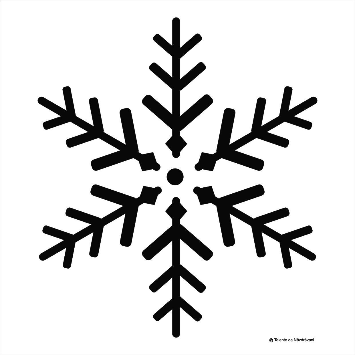 Fulg de zapada, sablon pentru fereastra