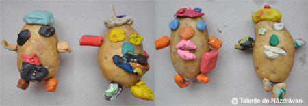 Cartofi decorati