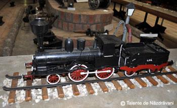 Muzeul CFR Bucuresti: Prima locomotiva care a circulat de la Bucuresti la Giurgiu, in 1869