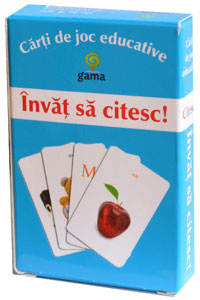 Carti de joc educative, Invat sa citesc, Editura Gama