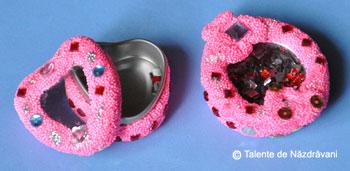 Cutie de bijuterii din spuma pentru modelaj, Daco Art