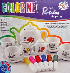 Set portelan de pictat, D-Toys