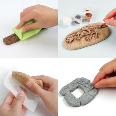 Tomy Clayzee Cork, wood, stone, rock, pottery - lemn, pluta, piatra, roca, lut  - seturi si refill
