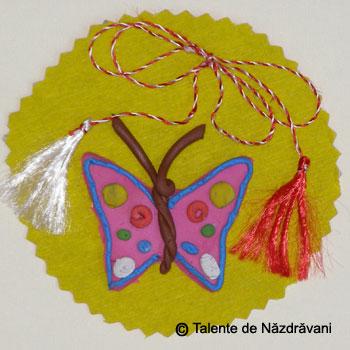 Fluture.Martisor modelat din plastilina