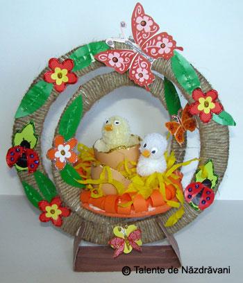Decoratiune de Paste cu puisori
