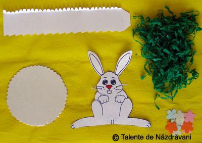 Suport pentru oua de paste, decorat cu iepuras