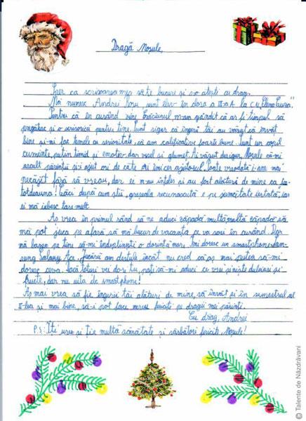 Scrisoare pentru Mos Craciun