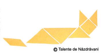 Vulpe. Colaj geometric