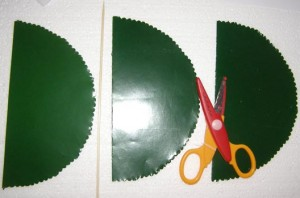 Materiale folosite pentru realizarea felicitarii-bradut