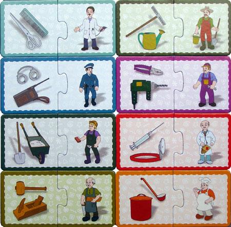 Sa invatam meseriile, joc puzzle educational oferit de D-Toys