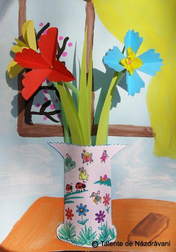 flori hartie decor