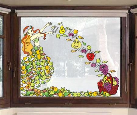 decor toamna fereastra zana