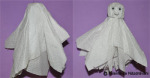 Fantome din servetele de hartie. Decoratiuni pentru Halloween