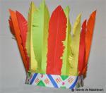 Podoaba din pene pentru un costum de indian. Decoratiuni pentru Halloween