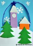 Felicitari de iarna, peisaje si oameni de zapada