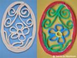 Oua modelate din benzi de pasta ceramica