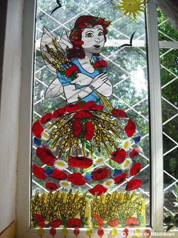 Zâna Vară - decor pentru fereastră