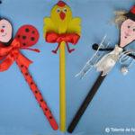 Figurine pe linguri de lemn