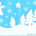 tablou iarna cu piese albe
