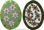 Decoratiuni cu oua: contur cu narcise