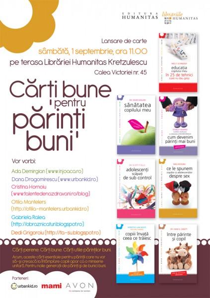 Carti bune pentru parinti buni, Editura Humanitas