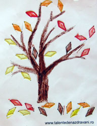 Copacel de toamna cusut