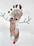 Renul Rudolph, pictura dupa amprenta piciorului