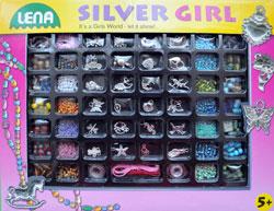 Lena: Silver Girl, set margele