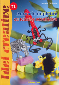 Idei creative 71 Animale impletite din fire scoubidou