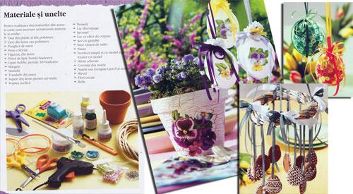 Decoratiuni florale de Pasti - Idei creative 72, Editura Casa