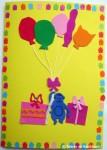 Felicitare aniversara cu baloane
