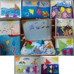 tablou submarin origami